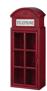 "Creative Co-Op Metal ""Telephone"" 1 Door Wall Cabinet & Reviews 