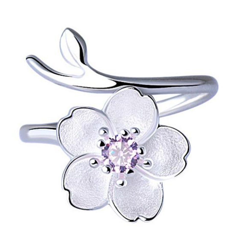 Drawihi 1 pcs Bague Nouvel Anneau de Fleur de Cerisier Anneau Créatif Simple