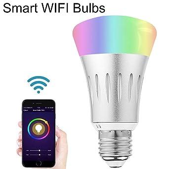 Wifi Pour De Décoration Ampoule Minuterie Sans MulticoloreLampe Fil ChaudSmart Led E27Intelligent 5060 Télécommande RgbFroid thQrdsC