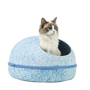 Tienda De Campaña para Gatos Forma De Huevo Casa para Mascotas Cama De Gato Felino Semielojamiento Gatito Desmontable Nido Azul O Rosa: Amazon.es: Deportes ...