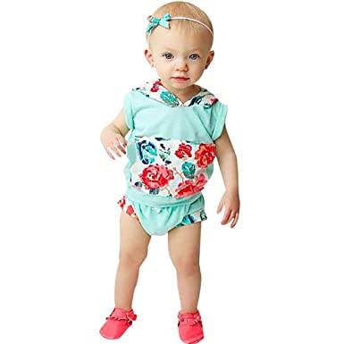 a306c783c for 0-3 Years Old Baby Outfit,Lovely 2Pcs Toddler Kids Baby Boys Girls  Floral Hoodie Tops+Shorts Outfits Clothes Set Summer Clothing Black:  Amazon.co.uk: ...