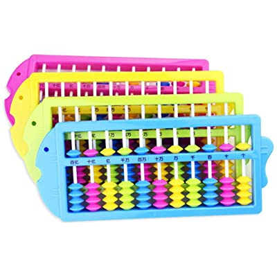 Kekailu Abacus Soroban Toy,Colorful 11 Rods Chinese Abacus Soroban Beads Math Learning Education Kids Toys,Random Color: Home & Kitchen