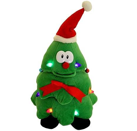 cuddle barn animated singing dancing light up rockin robbie christmas tree - Singing Christmas Toys