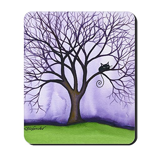 61BT R%2Bbx2L - CafePress - Newton Stray Cat in Tree Mousepad - Non-slip Rubber Mousepad, Gaming Mouse Pad
