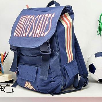 Trade Shop traesio Mochila para Hombre Kappa de Tela Carpeta Mochila para niño Escuela Trabajo Tiempo