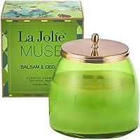 La Jolie Muse Bougies Parfumées De Jasmine Bougie De Pure Cire De Soja Fin Parfum De Maison D'Une Longue Durée De 60 Heures Et De Forte Odeur