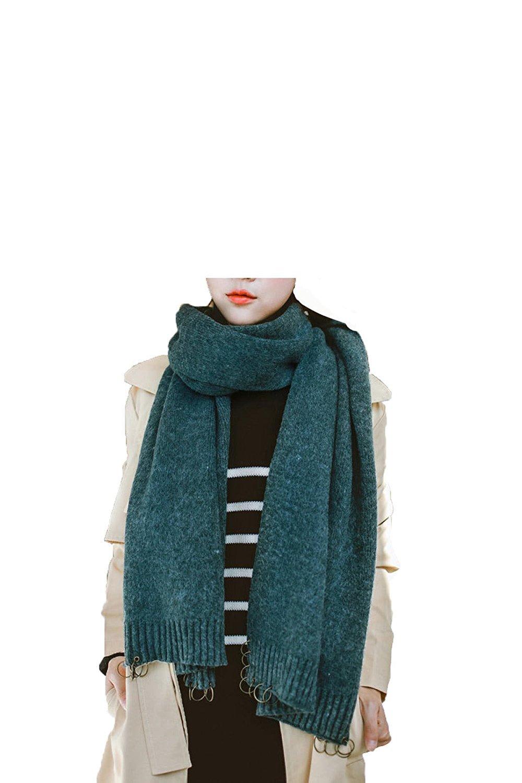 DIDIDD Anillos de personalidad otoño e invierno bufandas chal caliente,B,200 * 42cm