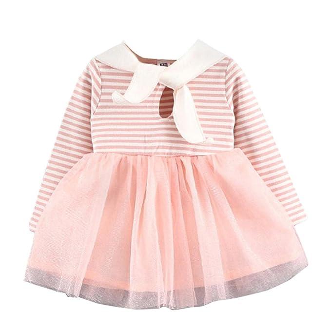 Vestidos Bebe Niña Invierno,SMARTLADY 0-36 meses Niña Tutú Vestidos de Manga larga