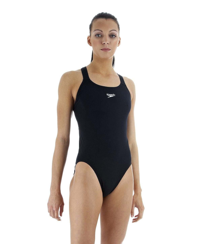 0f6e6c25c5eef Speedo Essential Endurance+ Medalist Swimsuit Women black Size DE 44   UK  40 2019 swimsuit men: Amazon.co.uk: Sports & Outdoors