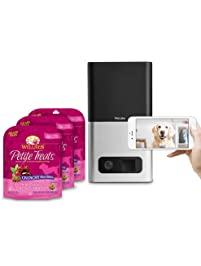 Petcube Bites Pet Camera With Compatible Wellness Treats, Variety Bundle