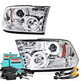 dodge ram 2500 quad cab head lamp - [Built-In 55Watts Canbus King Xenon HID Bulbs Low Beam] - VIPMotoZ 2009-2017 Dodge RAM 1500 2500 3500 CCFL Halo Headlights Headlamps, Driver and Passenger Side
