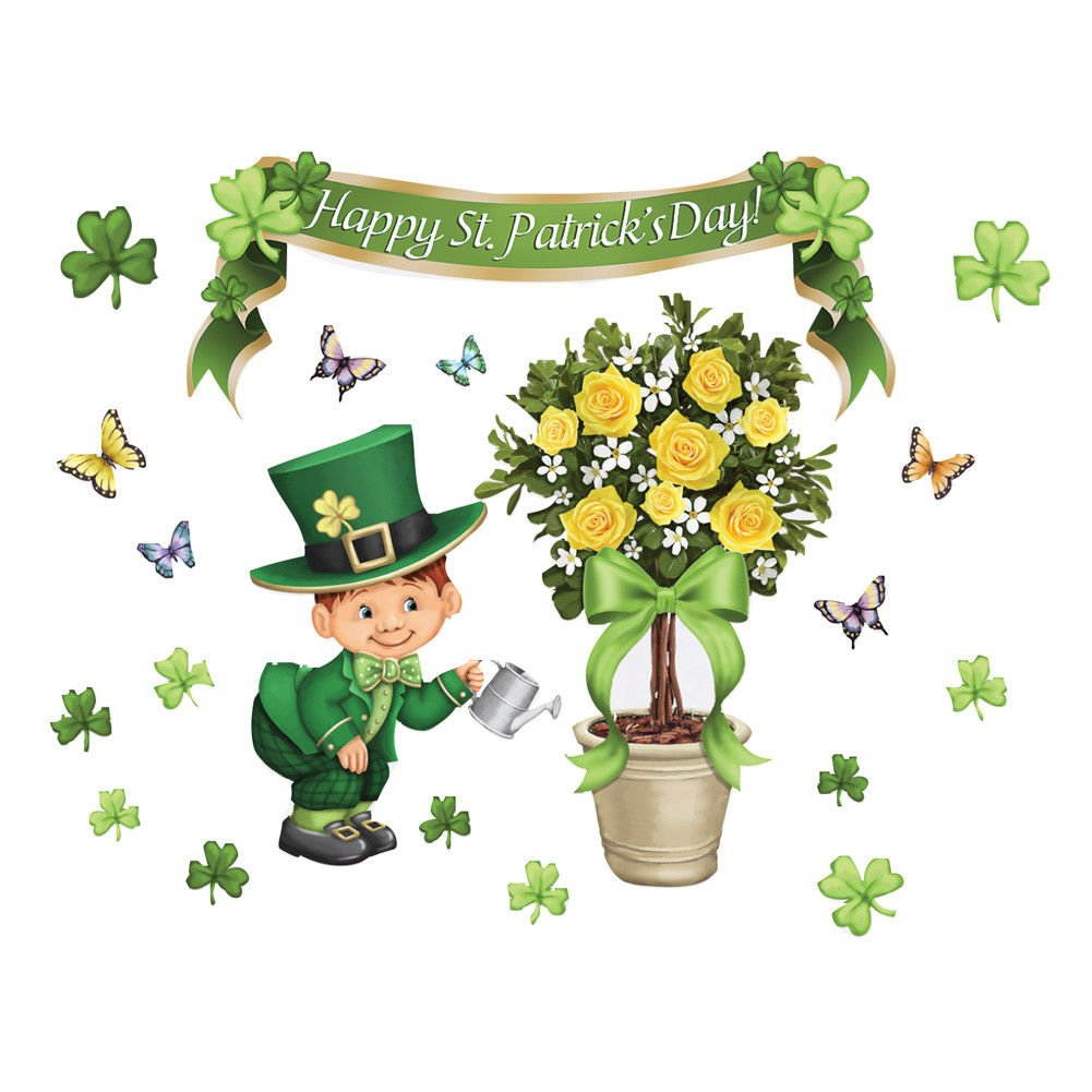 St. Patrick's Topiary Garage Door Magnets Home Décor Wall Sculptures