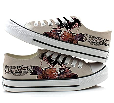 Attack on Titan Shingeki No Kyojin Cosplay Shoes Canvas Shoes Sneakers 4  Choices 635eecd07