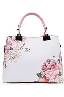 15484cfcdd60 Howoo PU Floral Pattern Shoulder Bag Fashion Printing Handbag Messenger Crossbody  Bag for Women Girls