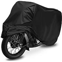 Housse de Protection Moto, opamoo Housse de Moto Couverture Imperméable en 210D Oxford pour Moto, Bâche Moto avec Sac De Rangement, de la Pluie, poussière, Anti-UV, 240x105x125cm - Noir