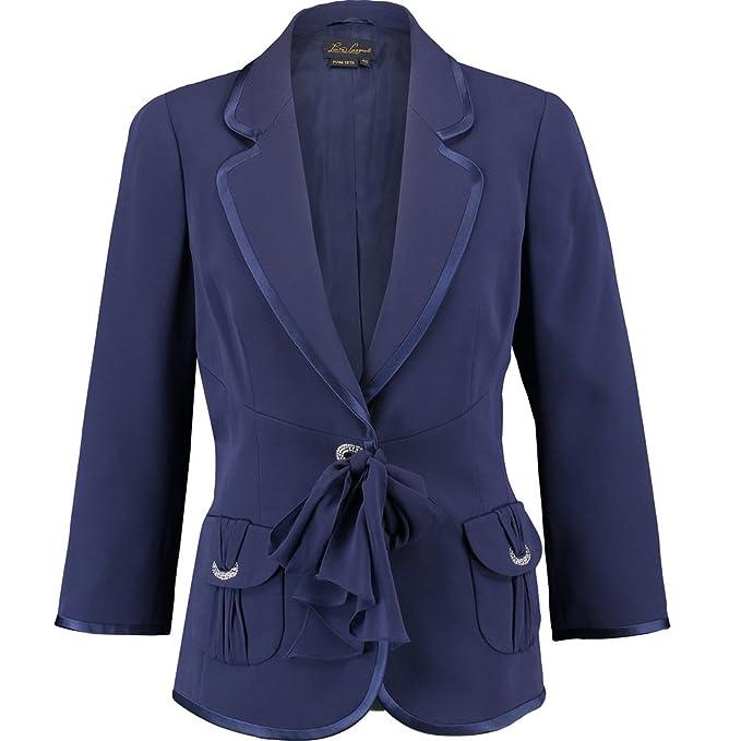 276c22d62fff8 Luisa spagnoli Vigil impreziosito seta Blazer Blu Navy  Amazon.it   Abbigliamento