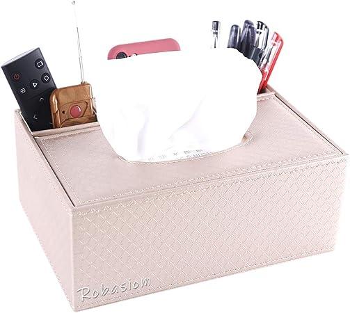 Robasiom Recipiente multifunción de piel sintética para bolígrafo, lápiz, mando a distancia, caja de pañuelos …: Amazon.es: Hogar