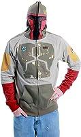 Star Wars Darker Boba Fett Brown Costume Hoodie Zip Up Sweatshirt