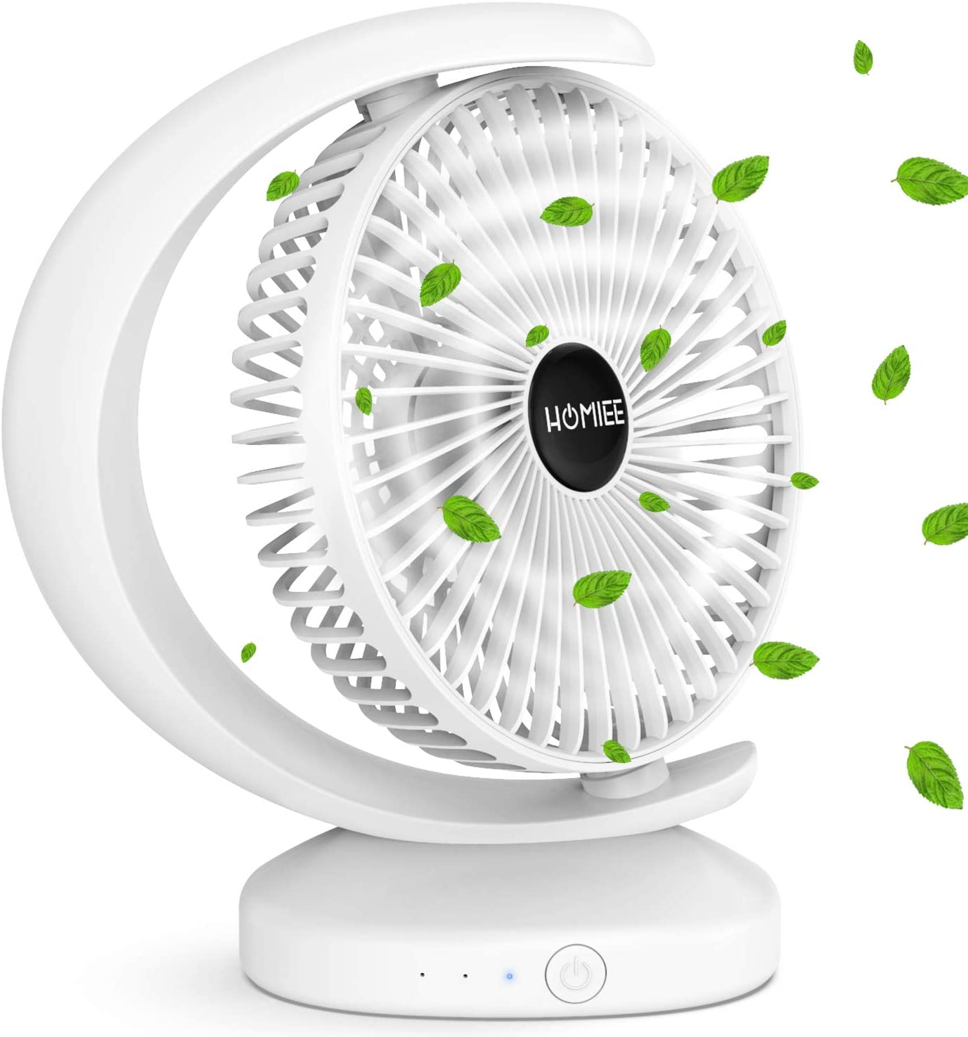 Kiislee Mini USB Desk Fan Portable Desktop Table Cooling Fan with Strong Wind Quiet Operation for Home Office Car Outdoor Travel 2000mAh Personal Small Wireless Fan Rechargeable 3 Speeds
