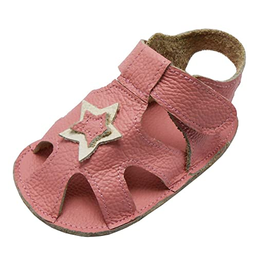 0dca8b76c Sayoyo Baby Girl Genuine Leather Soft Sole Sandals Summer Prewalker Toddler  Shoes Pink 0-6