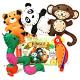 Four Seasons Crafting ANIMAL CRAFTS AND SEWING KIT FOR KIDS all ages - 120 piece set - Fun DIY craft kits for any kid, girls and boys - Travel activity and art projects for car road trip and airplane