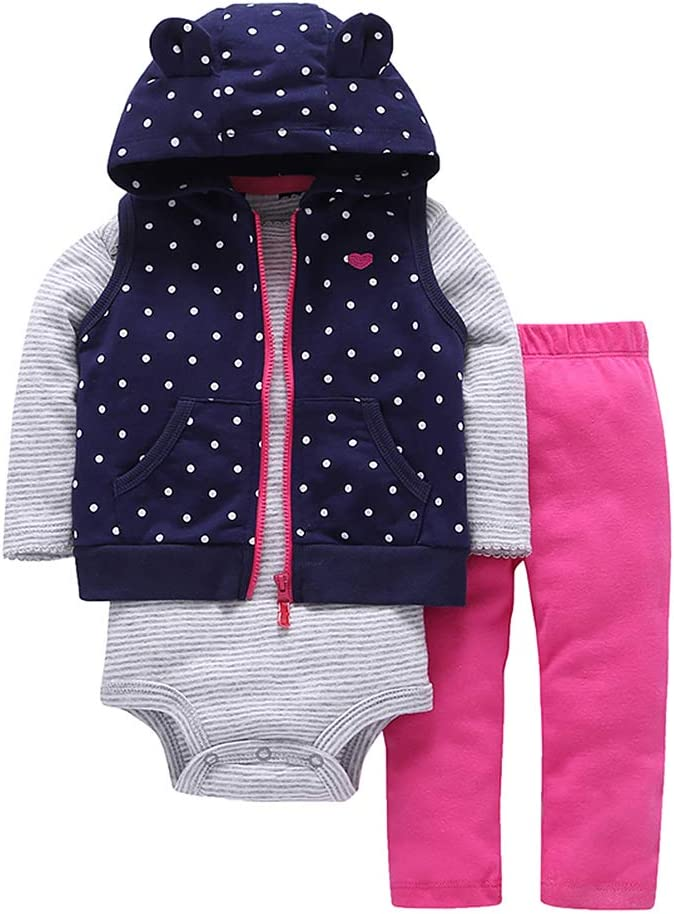 طقم ملابس دافئة للأطفال الرضّع والبنات في فصل الشتاء والخريف