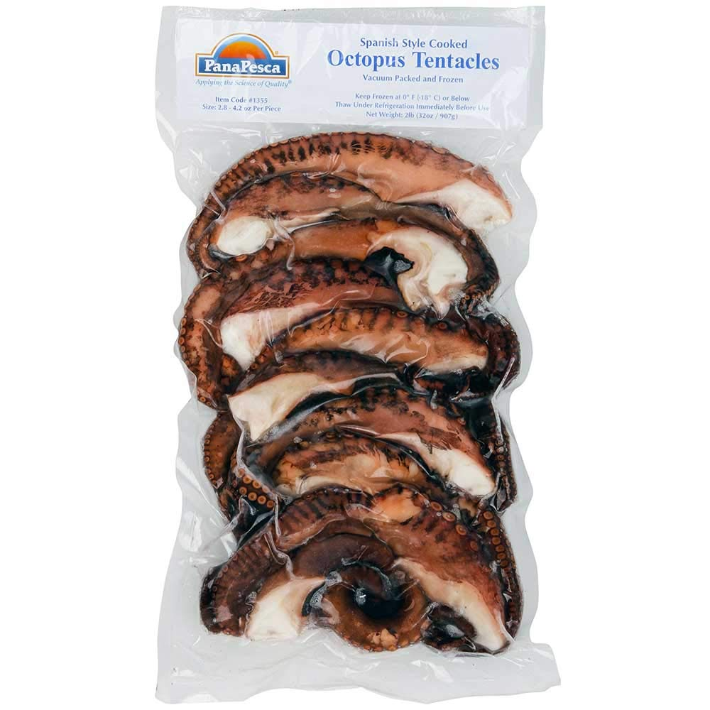 Panapesca Spanish Style Cooked Octopus Tentacles, 2 Pound -- 5 per case.