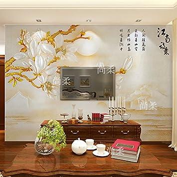 Benutzerdefinierte Produkte Der Neuen Chinesischen Tv Hintergrund  Wandmalerei Ideen Jade Orchid Schlafzimmer Tapete Benutzerdefinierte Videos  Wand