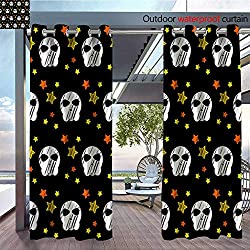 QianHe Balcony Curtains Happy-Halloween-Abstract-Seamless-Pattern-Background-Abstract-Halloween-Pattern-for-Design-Card-Party-Invitation-Poster-Album-menu-t-Shirt-Bag-Print-etc-4.jpg Outdoor Patio C