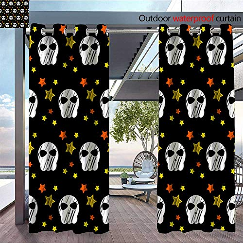 QianHe Exterior/Outside Curtains Happy-Halloween-Abstract-Seamless-Pattern-Background-Abstract-Halloween-Pattern-for-Design-Card-Party-Invitation-Poster-Album-menu-t-Shirt-Bag-Print-etc-4.jpg for Pa