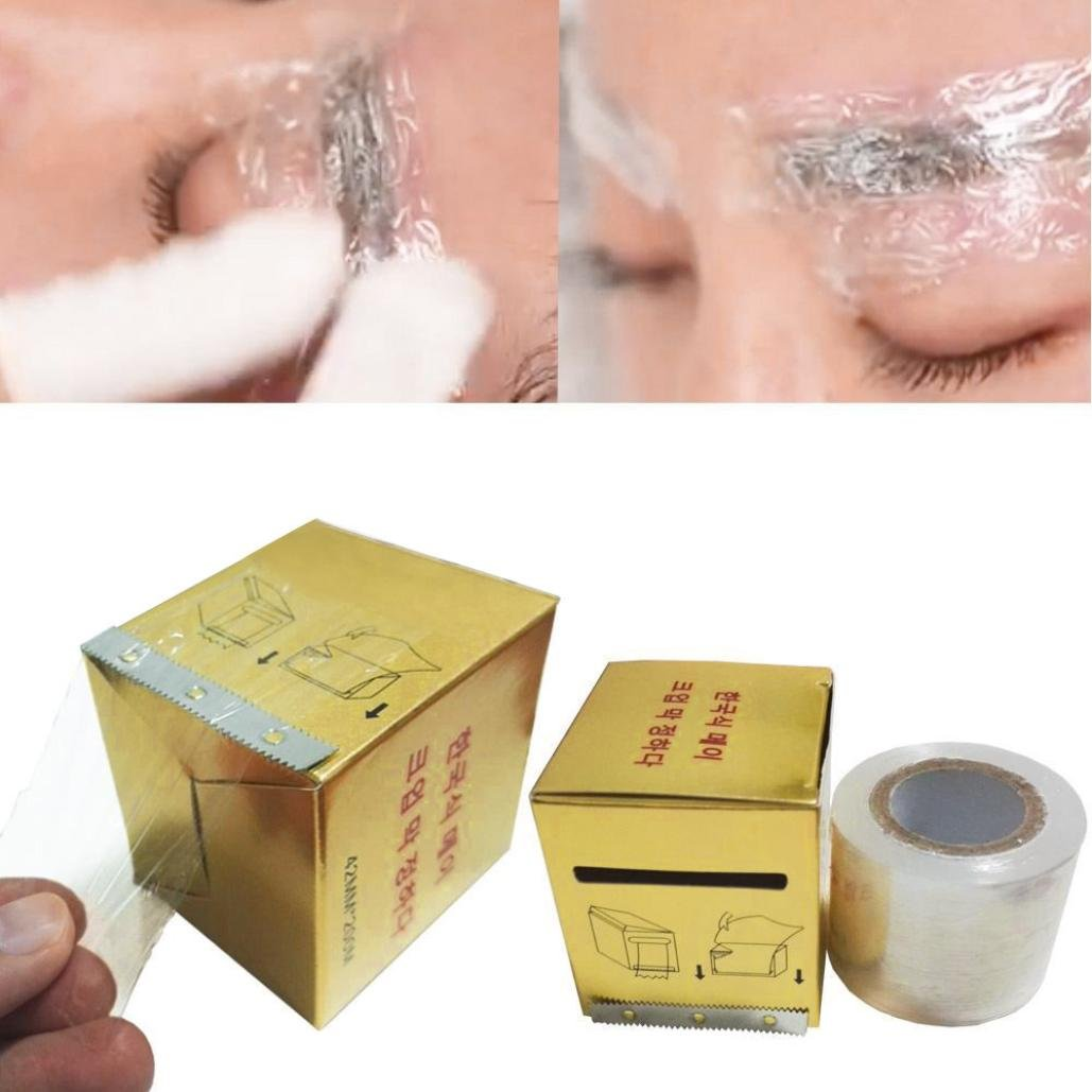 AMA(TM) Professional Eyebrow Tattoo Plastic Wrap Preservative Numbing Film Makeup Supplies (Gold