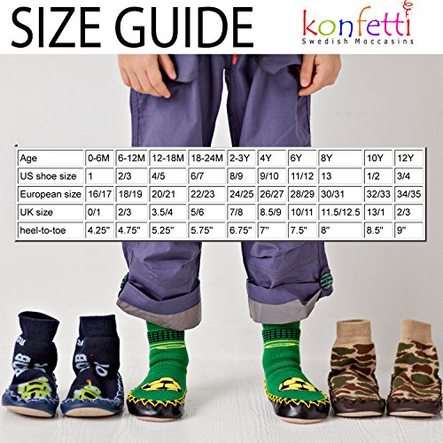 Image of Konfetti Leapin' Lizards Gecko Kids Swedish Moccasins House Slippers Shoes