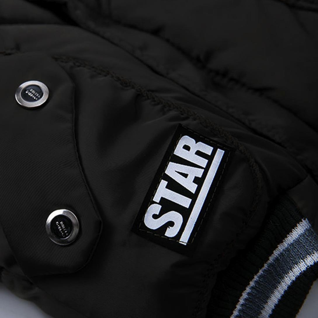 Odeer Fashion Kids Hooded Coat Winter Boys Girls Thick Warm Padded Jacket 2T-5T 2T, Black
