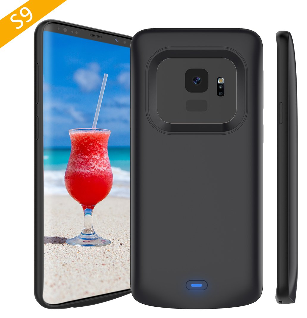 Galaxy S9 Battery Case, Stoon 4700mAh Portable Charger Case Rechargeable Extended Battery Pack Protective Backup Charging Case Cover for Samsung Galaxy S9 (5.8inch) (Black)