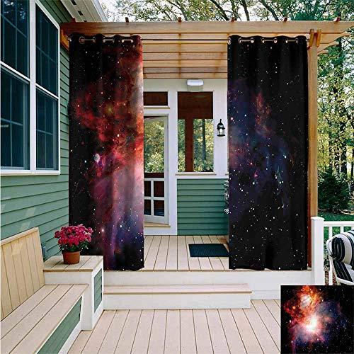 Beihai1Sun Indoor/Outdoor Curtains,Outer Space Super Nova Celestial,Simple ()