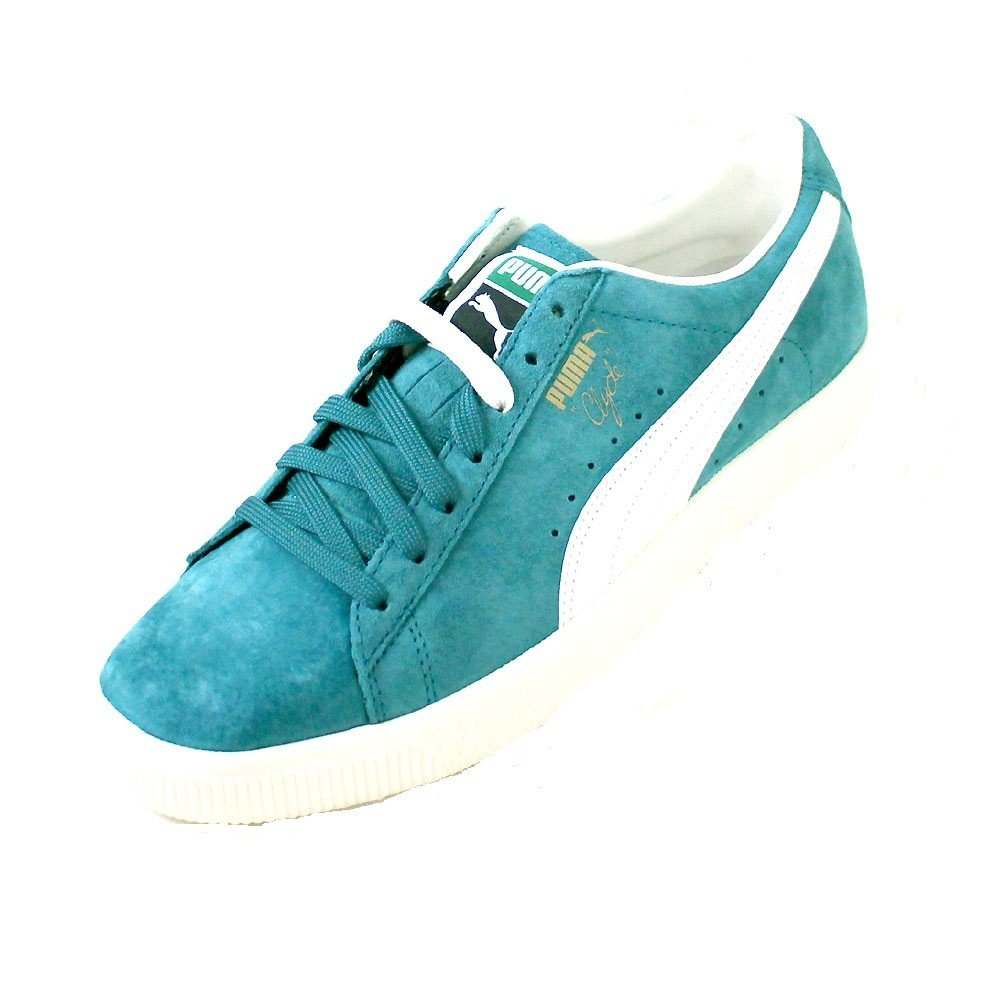 Puma Clyde Premium Core  41 EU|Blau (Harbor Blue/Whisper White)