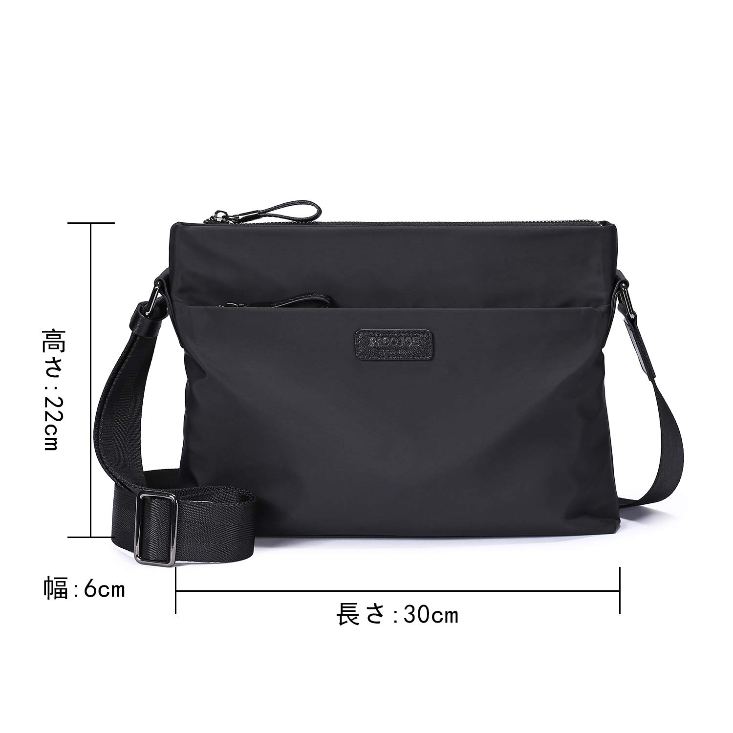 Mens Canvas Shoulder Bag Black Fashion Simple Leisure Crossbody Bag