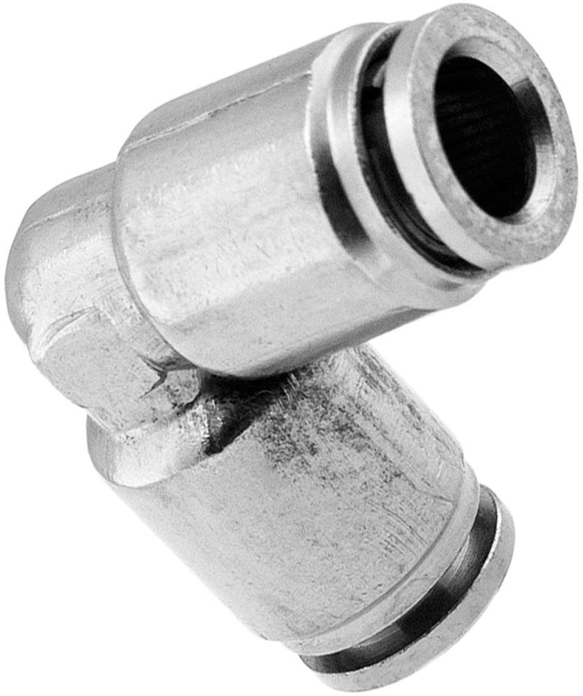 Union//Joint Elbow Pneumatic Fitting for 1//4 OD Hoses Vixen Air Push to Connect Bundle of Two Fittings VXA8114-2 PTC