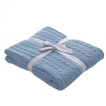 Amazon.com: Battilo - Manta de punto de algodón muy suave y ...