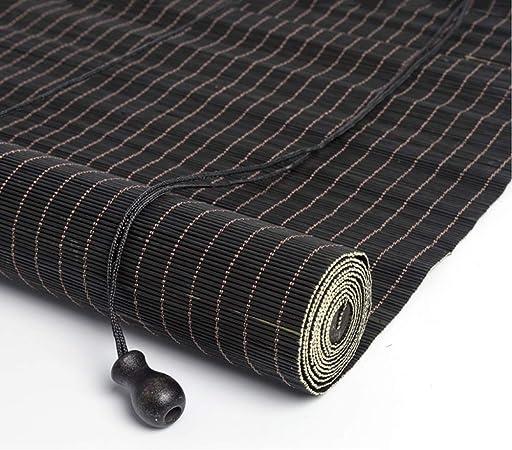 Persiana Enrollable Hogar Carbonizado Sun Roller Shade Pantalla de Privacidad con Gancho, para Exterior, Patio, Toldo, Cubierta de Ventana, Pérgola, 85cm / 105cm / 125cm / 145cm Ancho: Amazon.es: Hogar