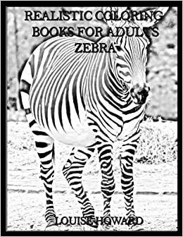 Amazon.com: Realistic Coloring Books for Adults Zebra (Volume 56 ...