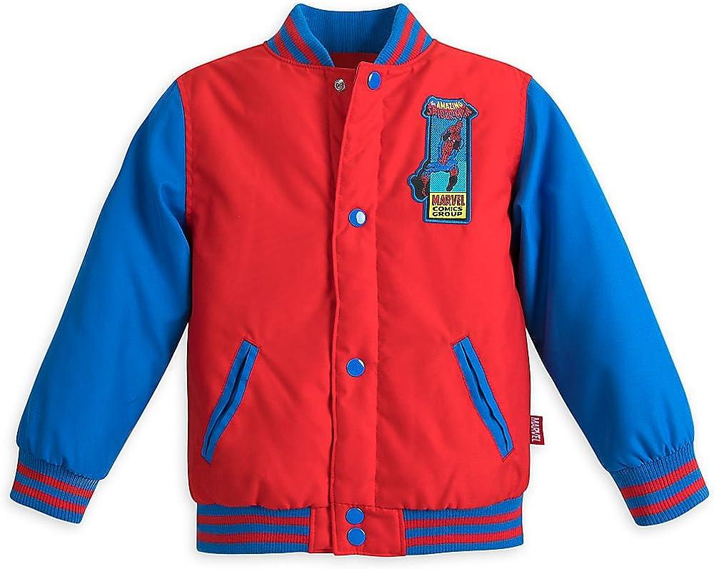 Marvel Spider Man Varsity Jacket for Boys Red