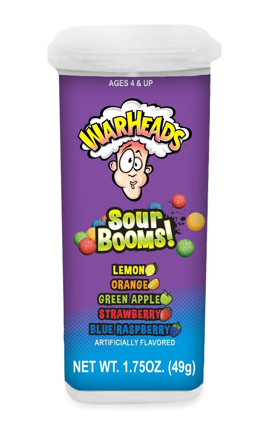 Warheads Extreme Sour Booms Chewy Candy, 1.75 Ounce - 18 Count Display Pack by Warheads