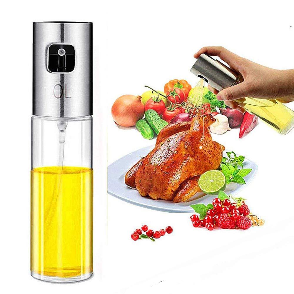 Olive Oil Spritzer Bottle for Cooking - Dispensers/Mister Bottle for Pan/Grill/BBQ/Cooking/Air Fryer/Salad/Roasting/Bread Drunze
