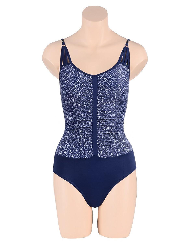 Bexleys Woman Damen Badeanzug mit Soft-Cups und verstellbaren Trägern blau