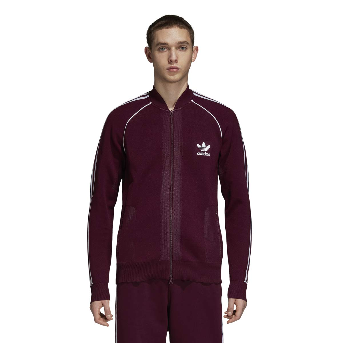 30f182d48f435 adidas Men's Originals Track Jacket Maroon dh5756 at Amazon Men's ...