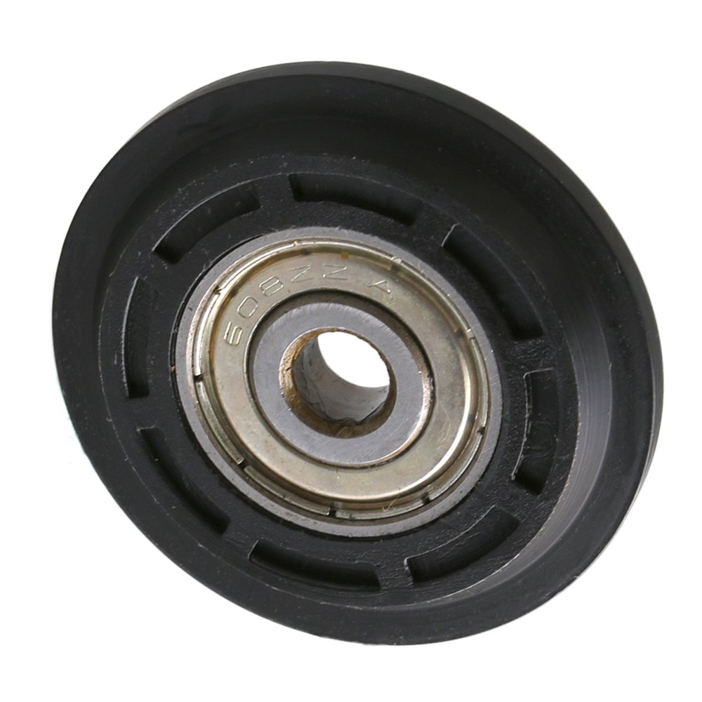 CNBTR 40x8x6mm Black Steel Plastic Coated Ball Bearing Pulley Wheel Doors Windows Partial Replacement Pack of 4