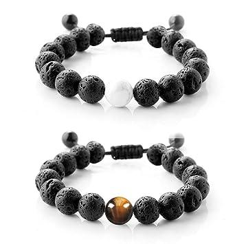 Amazon.com: Difusor pulseras pulsera de yoga pulseras ...