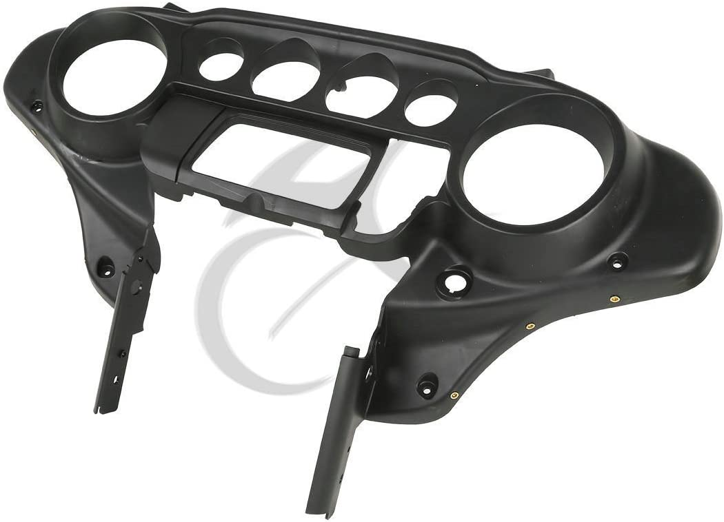 XFMT Black ABS Plastic Batwing Inner Outer Fairing Compatible with Harley Davidson Touring 1996-2013