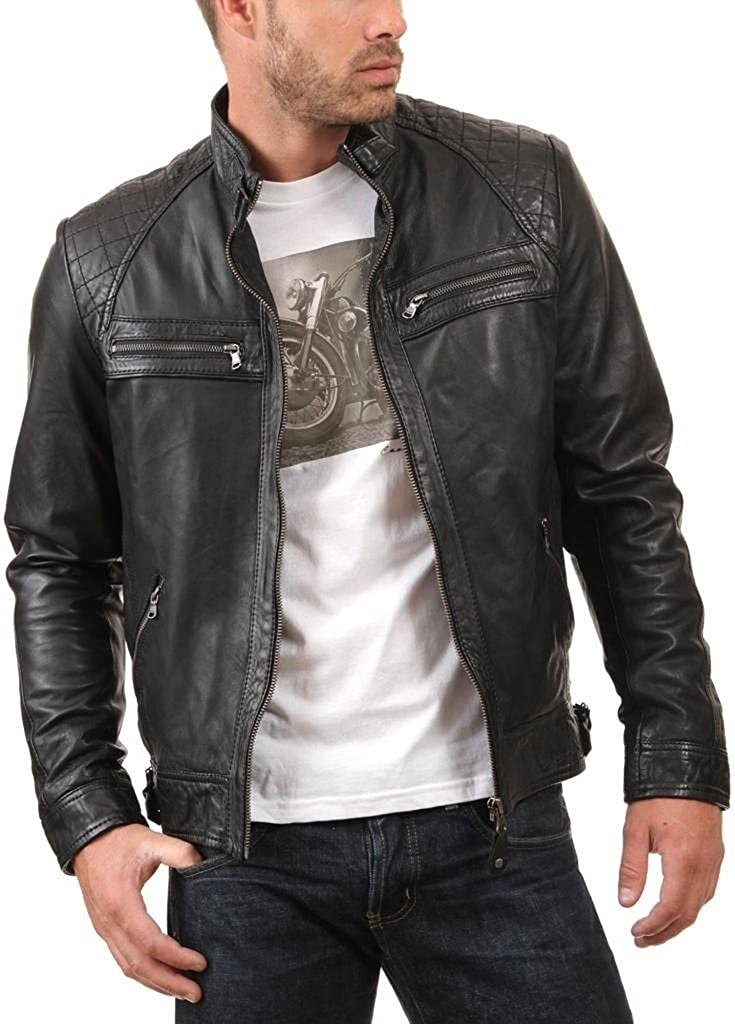 Western Leather Mens Leather Jacket Black